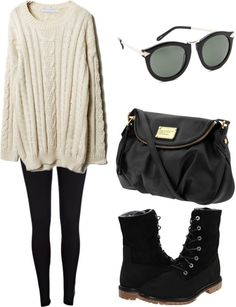 With a black/dark gray sweater of course and this looks super comfy! Winter Outfits, Casual Outfits, Cute Outfits, Fashion Outfits, Fashion Ideas, Diva Fashion, Womens Fashion, Types Of Fashion Styles, Passion For Fashion