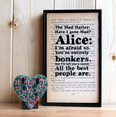 Have I Gone Mad Alice in Wonderland Mad Hatter by BookishlyUK, £24.75
