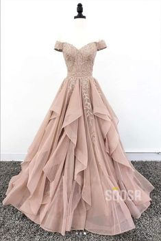 Off Shoulder Dusty Champagne Lace Cheap Long Evening Prom Dresses, Evening Party. - Off Shoulder Dusty Champagne Lace Cheap Long Evening Prom Dresses, Evening Party Prom Dresses, 18627 Source by - Pretty Prom Dresses, Prom Party Dresses, Elegant Dresses, Beautiful Dresses, Formal Dresses, Sexy Dresses, Cheap Dresses, Summer Dresses, Awesome Dresses