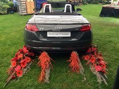 Audi car decorated for Holker Garden Festival