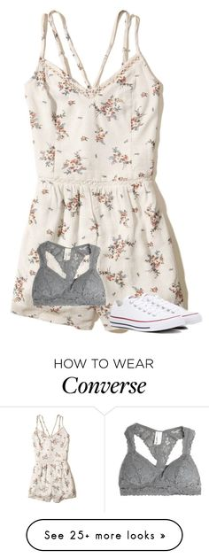"""Untitled #3712"" by laurenatria11 on Polyvore featuring Hollister Co. and Converse"