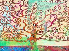 Klimts Tree 20 Poster Print by Eric Chestier | Fruugo