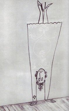 Untitled by Romanian-born American artist Saul Steinberg (1914-1999). via CircARQ