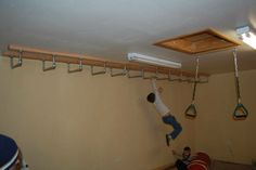 Monkey bars on ceiling would be great fun for a tiny house.
