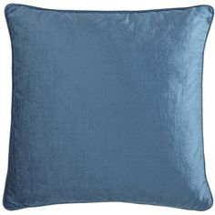 Velvet Throw Pillows (2) - Cadet Blue- from Pier 1 to go on the bed with the dark grey comforter...they matched the chair perfectly and not on purpose!!! We just have pops of blue (same color, different shades) with the greige walls.