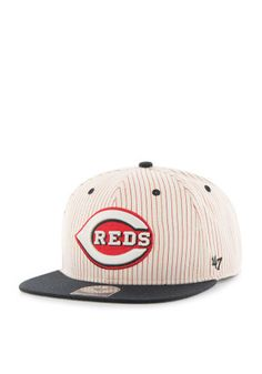 '47 Cincinnati Reds Brown 1993 Woodside Captain Snapback Hat