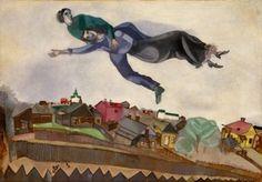 マルク・シャガール 《町の上で、ヴィテブスク》 1915年 (c) ADAGP, Paris & JASPAR, Tokyo, 2015, Chagall(R) E1843