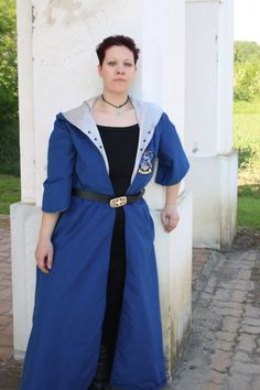 MADE TO ORDER  quidditch uniform tunic blue by RavenThreadsLab