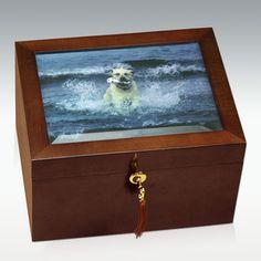 Large Fidelis Pet Photo Cremation Urn