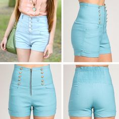 🆕🎀Front Zip High Waist Shorts High Waist Shorts -95%Polyester 5%Spandex -  Bundles of 3 or more will receive an automatic 20% discount. Reasonable offers will be accepted Shorts