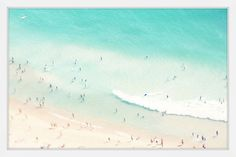 'Playing In The Surf' by Ingrid Beddoes Framed Painting Print