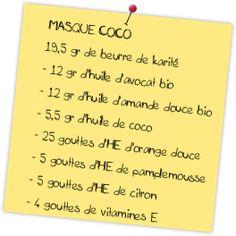 recette masque coco cheveux secs