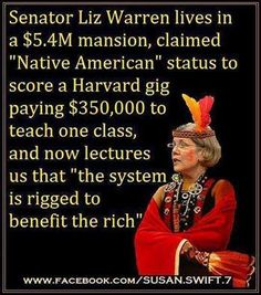 Politically Incorrect Elizabeth Warren Meme Has Democrats Throwing Fits Liberal Hypocrisy, Liberal Logic, Politicians, Socialism, Stupid Liberals, Communism, Elizabeth Warren, Stupid People, We The People
