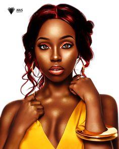 Black Girl Cartoon, Black Girl Art, Black Women Art, Black Girls Rock, Black Girl Fashion, Black Girl Magic, Art Of Beauty, Black Beauty, Black Artwork