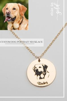 You can personalize this gorgeous round pendant necklace with your favorite pet's photo! A name can be added with a font of your choice. This is a perfect gift for pet lovers! Dog Jewelry, Photo Jewelry, Jewlery, Cute Little Animals, Cute Funny Animals, Animal Crossing, Pet Remembrance, Custom Dog Portraits, Grave