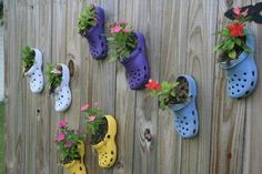 A new use for your worn out Crocs.