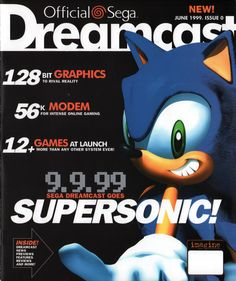 Official Sega Dreamcast Magazine, Issue 0, June 1999 - http://www.megalextoria.com/magazines/index.php?twg_album=Video_Game_Magazines%2FDreamcast%28US%29%2Fdreamcast_00_1999-06_show=ODCM-Jun99-issue0-01.jpg - #Dreamcast #Sega #90s #1990s #1999