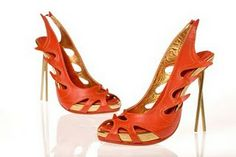 Kobi Levi shoes: East meets west, fire dragon inspired upper with chop-sticks stilettos