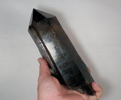 9.5 inch Extra Fine Smoky Citrine Crystal Specimen. Natural Termination. From Minas Gerais, Brazil.