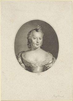 Willem van Senus | Portret van Carolina, prinses van Oranje-Nassau, Willem van Senus, Hendrik Pothoven, 1787 - 1834 | Portret van Carolina in een ovaal.