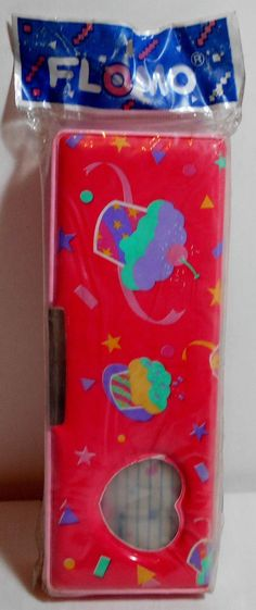 FLOMO VTG 80's 2 SIDES HAPPY PENCIL BOX CASE STATIONERY TAIWAN MADE MIP RARE   eBay