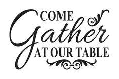 Primitive Kitchen STENCIL Come gather at our by OaklandStencil