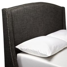 Nailbutton Wingback Headboard - Charcoal : Target Mobile