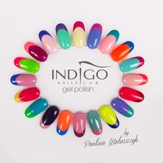 Color French !  Find more Inspiration at www.indigo-nails.com #Nails #Polish #Mani #french