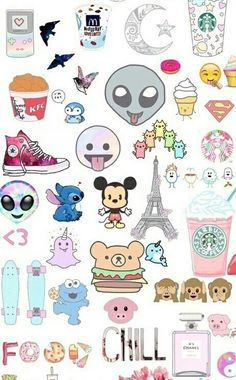 Find images and videos about wallpaper, background and emoji on We Heart It - the app to get lost in what you love. Tumblr Stickers, Phone Stickers, Cute Stickers, Emoji Wallpaper, Tumblr Wallpaper, Cute Backgrounds, Cute Wallpapers, Disney Drawings, Cute Drawings