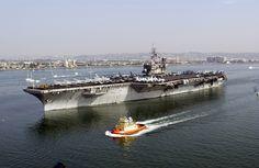 USS Constellation (CV 64) departs Naval Air Station North Island, San Diego, Calif.