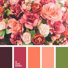 бледно-коралловый, бордовый, кораллово-розовый, коралловый, красный, малиновый, оранжевый, оттенки оранжевого, подбор цвета, салатовый, цветовое решение для гостиной.