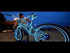 Fil électroluminescent Vélo - YouTube