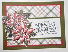 Beth's Paper Cuts: Poinsettias! Reason for the Season Stamp set