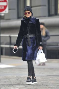 The Olivia Palermo Lookbook : Olivia Palermo in Fur Coat Out in New York