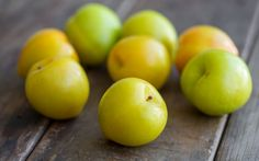 Not ready to eat? Think again! Try green plums with a little salt or pickled.