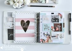 Brand new 2016 Heidi Swapp Memory Planner Life Planner, Happy Planner, 2016 Planner, Planner Ideas, Project Life, Digital Bullet Journal, Planner Brands, Diy Crafts For Girls, Heidi Swapp