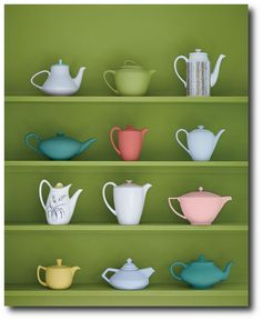 Spray Painting Furniture, Brightly Painted Furniture, Painted Furniture Ideas