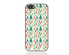 Raindrops multicolour iPhone case