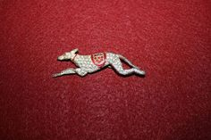 Vintage Rhinestone Greyhound Pin