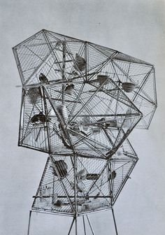 icancauseaconstellation:  Cedric Price, Aviary in the London Zoo.