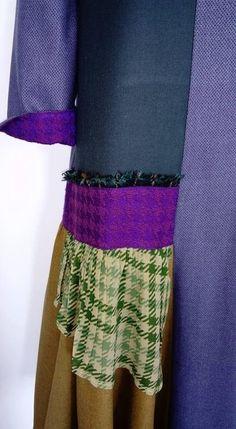 Patchwork dress / Asymmetric dress / Designer tunic dress / Patched loose dress / Color block dress / Checkered dress / A-line shift dress
