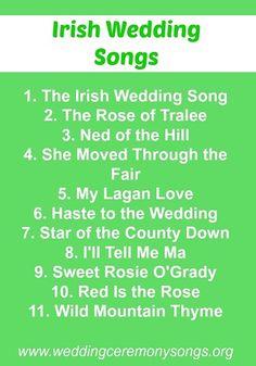 Irish wedding songs #weddingmusic