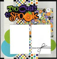 Paper Cottage: Page Kits to Go Scrapbook Layout Sketches, Scrapbook Titles, Kids Scrapbook, Scrapbooking Layouts, Scrapbook Cards, Halloween Scrapbook, Halloween Clipart, Halloween Pictures, Halloween Crafts