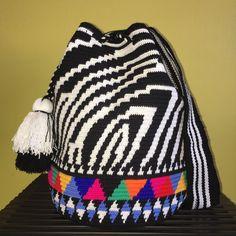 New Luxury Edition Zebra Handmade Colombian Wayuu Mochila Shoulder Crossbody Bag  | eBay