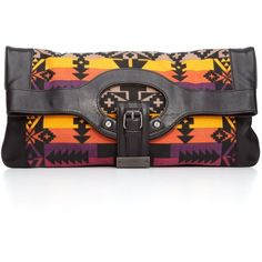 L.A.M.B. Handbag, Southwest Sunset Convertible Clutch ($193) ❤ liked on Polyvore