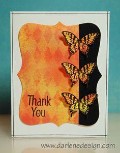 Very striking card. I like the black and orange!