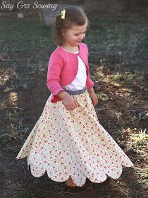 Say Grr Sewing: Free Flutter Skirt Pattern