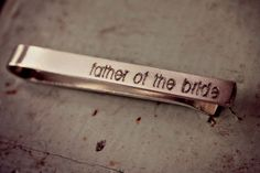 Affiliate - Custom Tie Clip Father Of The Bride Tie Clip Gift for Men