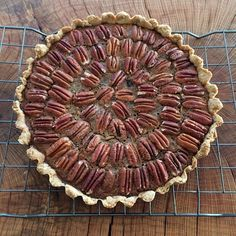 This Year's #Thanksgiving Pecan Pie with @Amberwavesfarm Whole Wheat Flour. I used grounded Dates in…