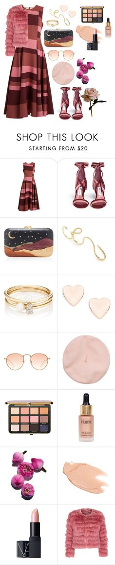 """""""Pink color block"""" by abigail-akc ❤ liked on Polyvore featuring Roksanda, Jimmy Choo, Silvia Furmanovich, Loren Stewart, Ted Baker, Eloise, Too Faced Cosmetics, NARS Cosmetics, Alice + Olivia and Abigail Ahern"""